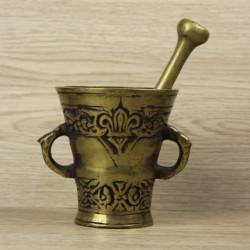 ancien-mortier-et-pilon-d'apothicaire-en-bronze