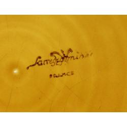 Abat jour globe opaline blanc 29 cm diamètre base