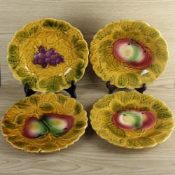 4-assiettes-a-dessert-en-barbotine-sarreguemines