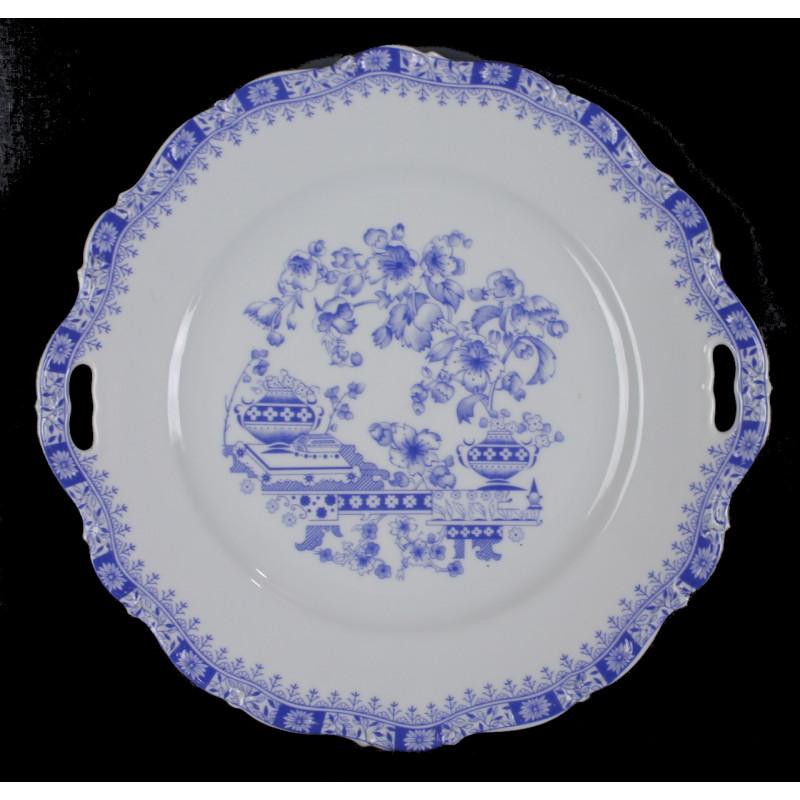 Plat En Porcelaine Bavaria Bleu et Blanc