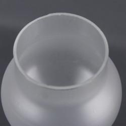 Globe opaline blanc 24 cm diamètre base