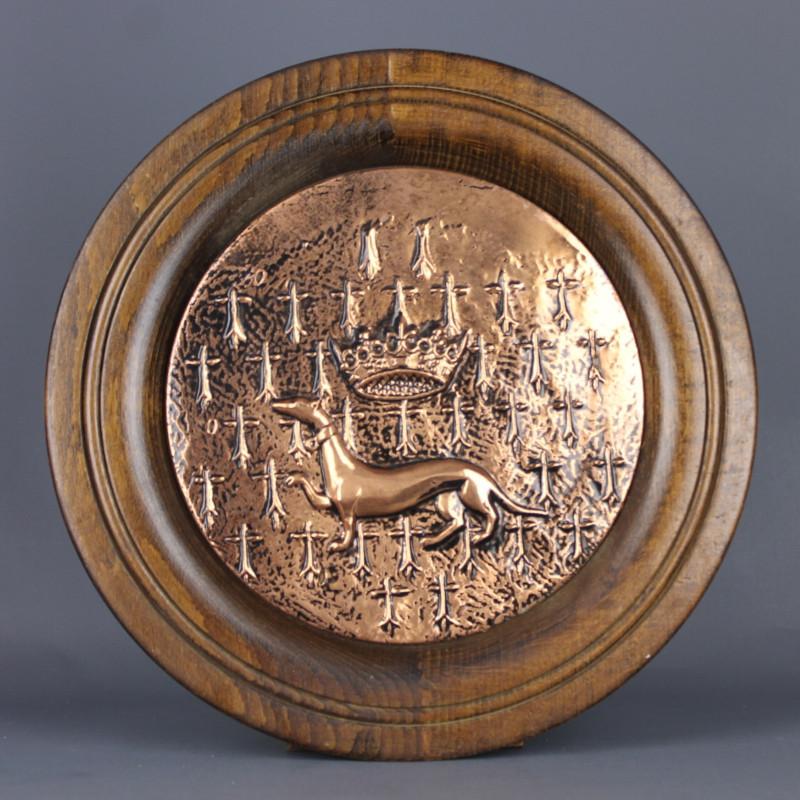 medaillon-cuivre-et-bois-l-hermine-decoration-murale