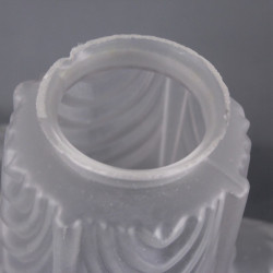 Globe abat jour opaline blanche 21,5 cm diamètre