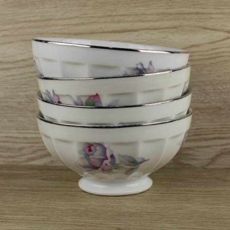 lot-de-4-bols-vintage-en-porcelaine-decor-floral