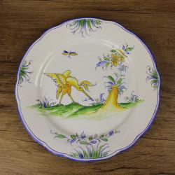 assiette-ancienne-style-moustiers-decor-d-oiseau