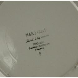 Assiette Faïence de Sarreguemines Mary Lou