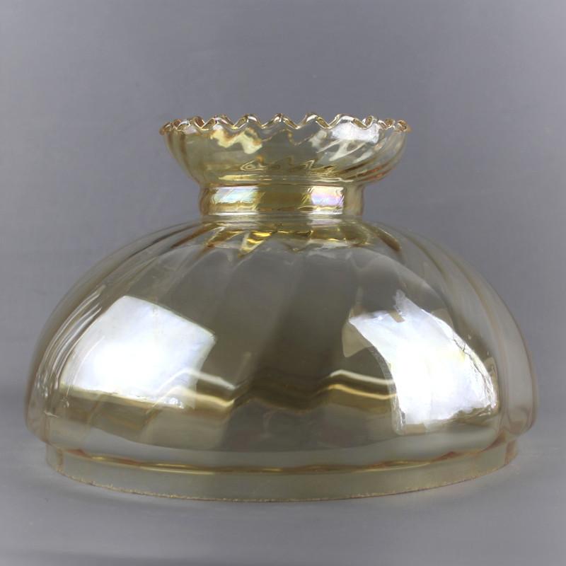 globe-abat-jour-verre-ambré-23cm