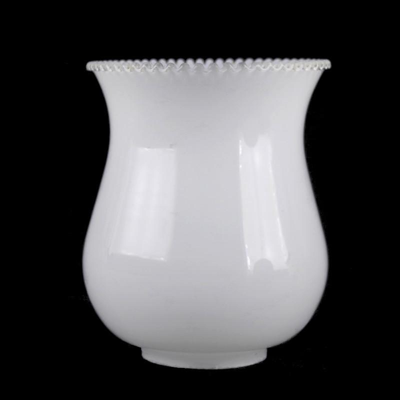 abat jour verre blanc de rechange pour lustre ou applique murale