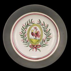 Assiette Décorative Etain et Céramique