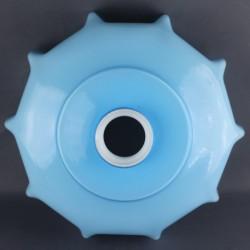 Globe opaline blanc 19 cm diamètre base