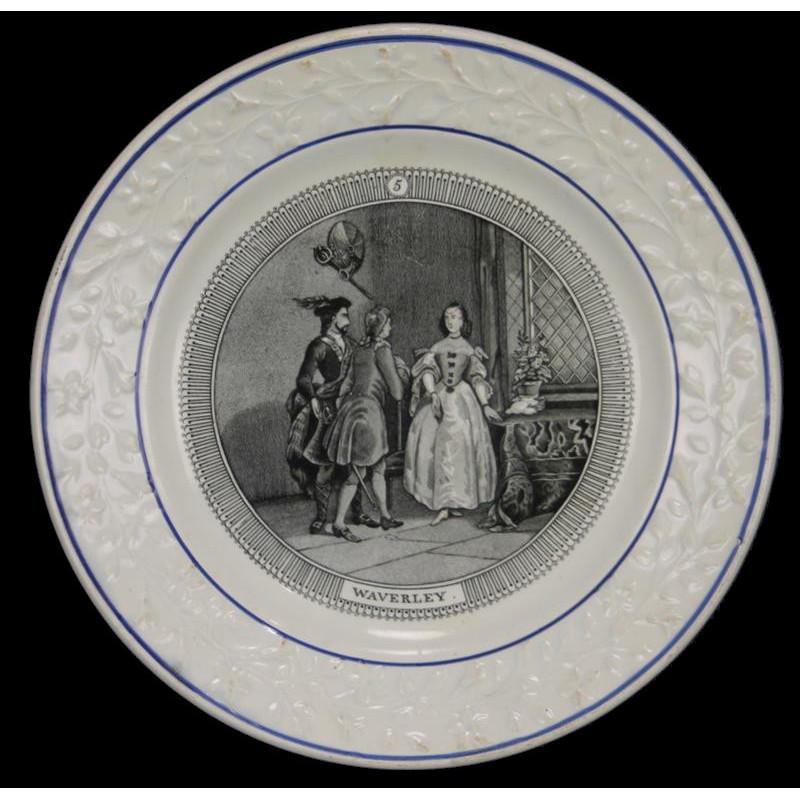 Assiette Parlante  Choisy Le Roi Waverley N°5