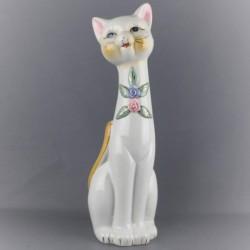 ancienne-statuette-chat-céramique-30cm
