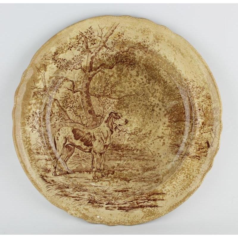 longchamps-assiette-décorative-scène-de-chasse